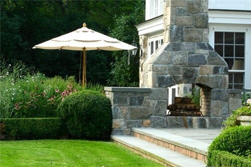 Камин садовый