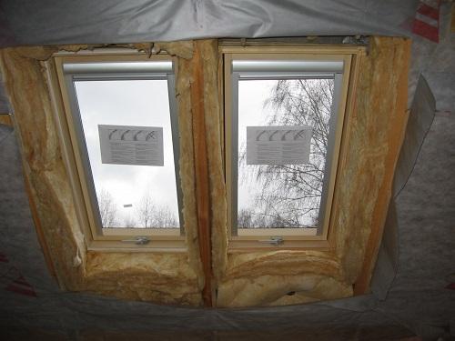 Утепление окна в мансарде