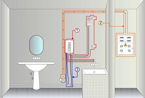Схема для подключения к электричеству